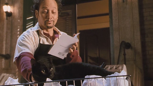 Mr. Deeds - Nazo Rob Schneider reciting poem to black cat in bicycle basket