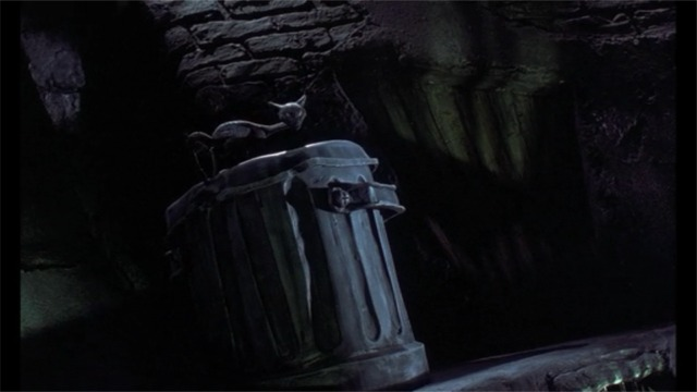 The Nightmare Before Christmas - black cat on garbage can