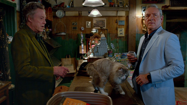 Nine Lives - Felix Perkins Christopher Walken and Tom Brand Kevin Spacey with Norwegian Forest Cat Mr. Fuzzypants