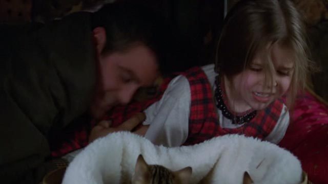 One Fine Day - Maggie Mae Whitman being pulled away from tabby kittens by Jack George Clooney