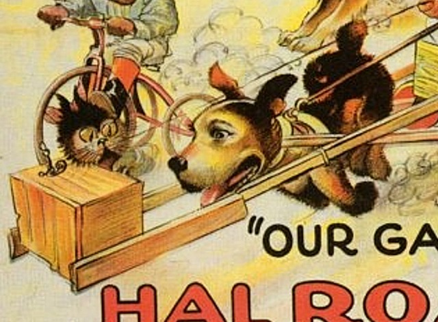 Our Gang - Derby Day poster close up on cat and dog vehicle