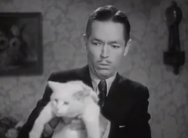 Our Gang - Feed 'em and Weep - closer of Mr. Hood Johnny Arthur holding white cat
