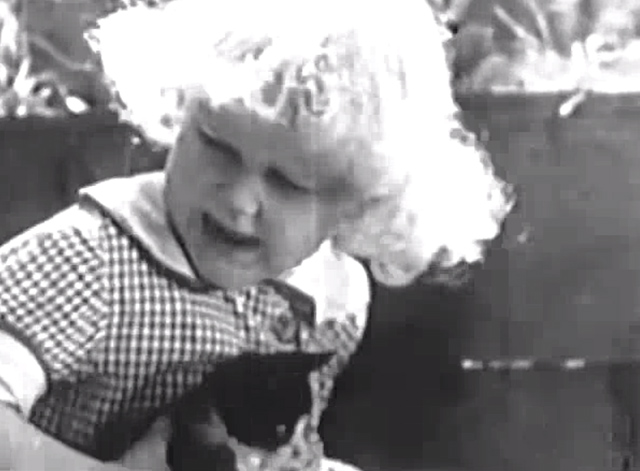 Our Gang - Playin' Hookey - Jean Darling holding a kitten