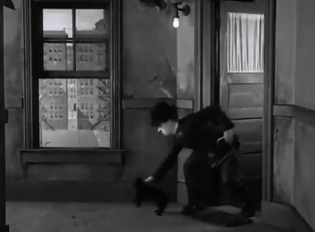 Pay Day - Chaplin sets black cat outside apartment