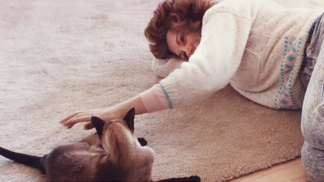 Pickle - photo of Siamese cat Samantha and Debbie Nicholson