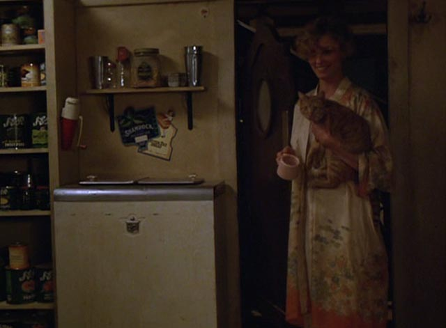 The Postman Always Rings Twice 1981 - orange tabby cat held by Cora Jessica Lange