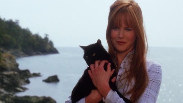 Practical Magic - black cat held by Gillian Nicole Kidman