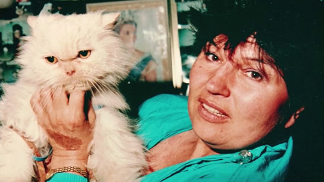Proof - photo of cream colored Persian cat held up by woman
