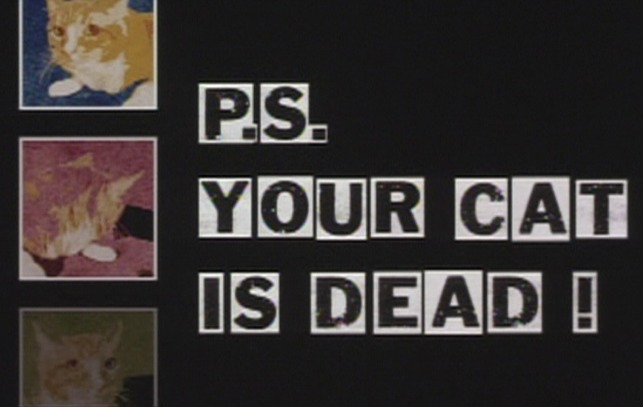 P.S. Your Cat is Dead! - cat over title credits