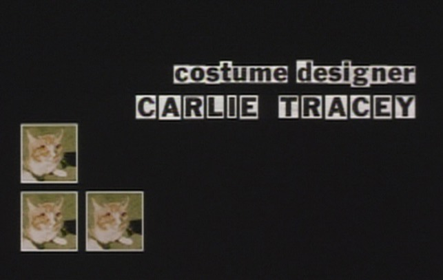 P.S. Your Cat is Dead! - cat over costume designer credit