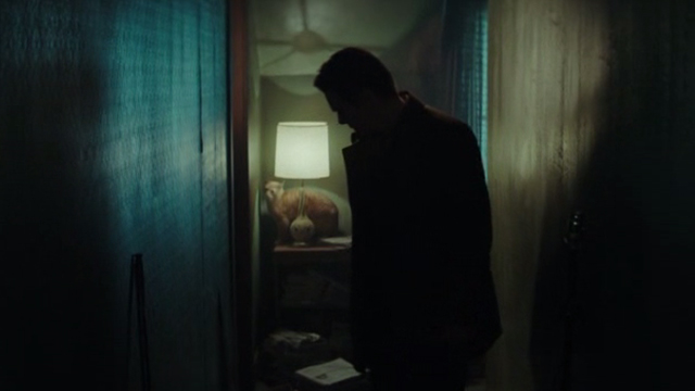 Regression - orange tabby cat on table with lamp behind Bruce Kenner Ethan Hawke