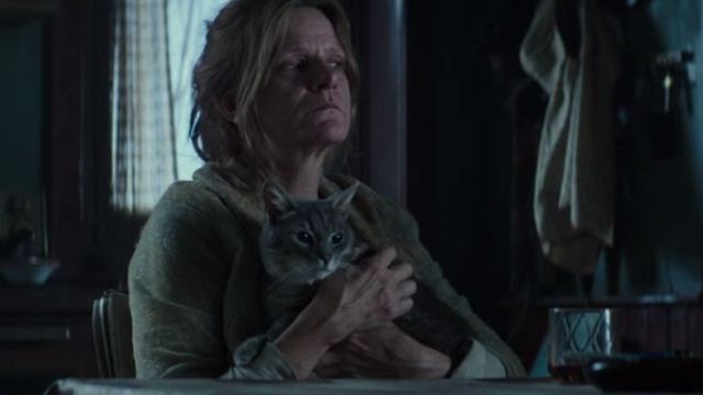 Regression - Grandma Rose Dale Dickey holding gray tabby cat Lacy