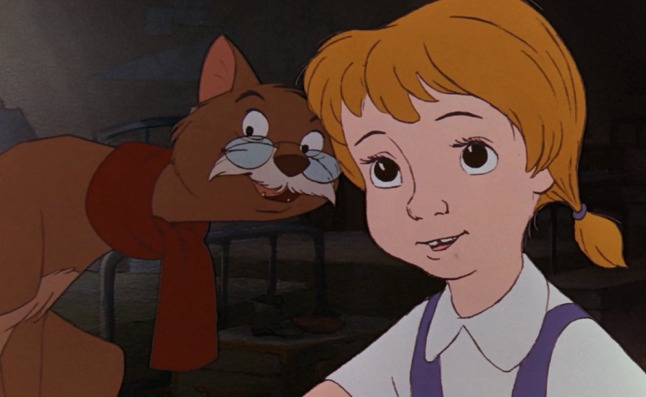 The Rescuers cat Rufus and Penny