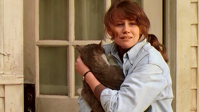 Scent of a Woman - Karen Sally Murphy with large gray and white cat Tommy