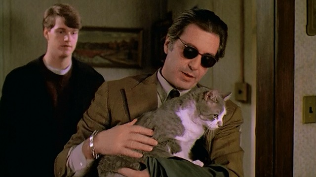 Scent of a Woman - Al Pacino holding gray and white cat Tommy