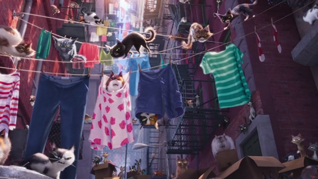 The Secret Life of Pets - Sphynx cat Ozone's gang of alley cats