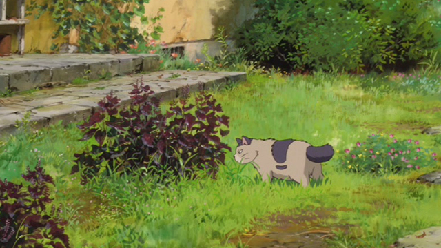 The Secret World of Arrietty - Niya cat looking at bush again