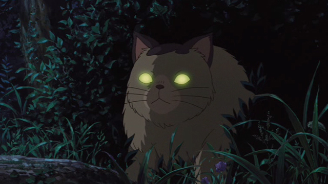 The Secret World of Arrietty - Niya cat with eyes glowing