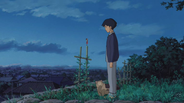 The Secret World of Arrietty - Niya cat with Sho and Arrietty