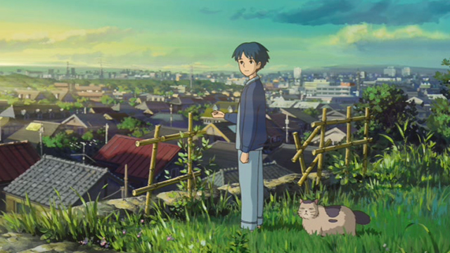 The Secret World of Arrietty - Niya cat with Sho at daybreak
