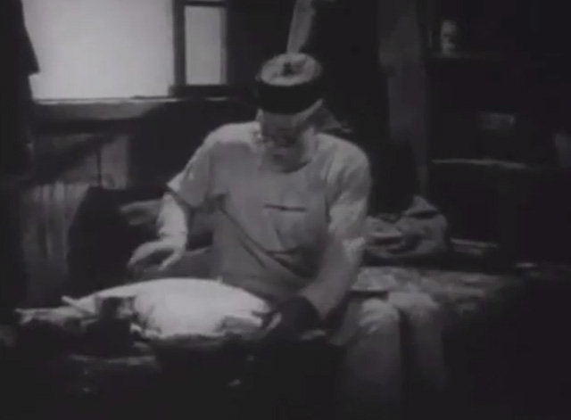 Shadows - Yen Sing Lon Chaney offering cushion to Bengal tabby cat