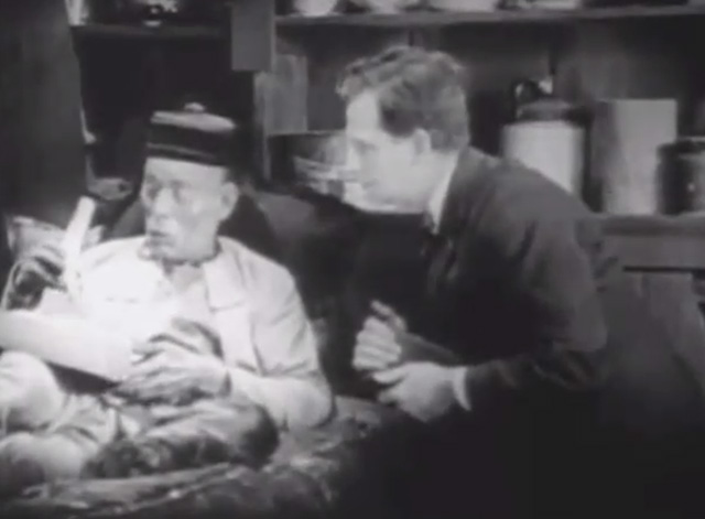 Shadows - Yen Sing Lon Chaney lying on death bed with Bengal tabby cat at his side plus Nate Snow John St. Polis