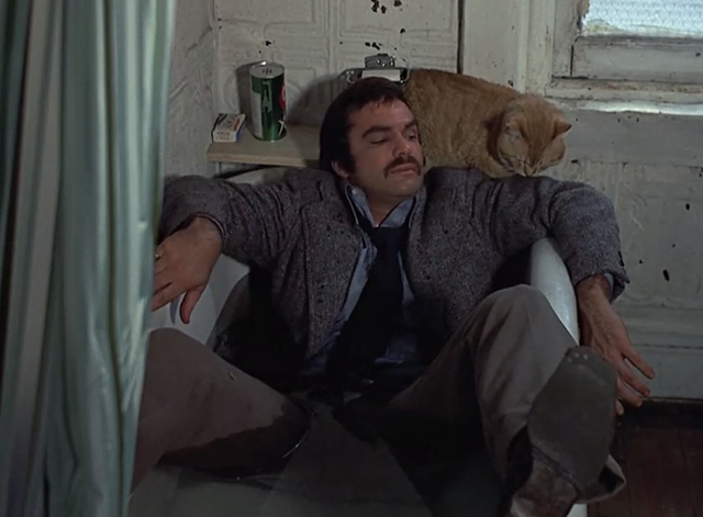 Shamus - McCoy Burt Reynolds in bathtub with Cat Morris