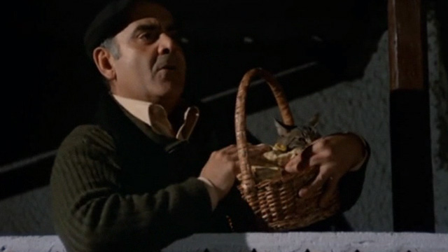 Shoot First, Die Later - Esposito Vittorio Caprioli with tabby cat Napoleon in basket