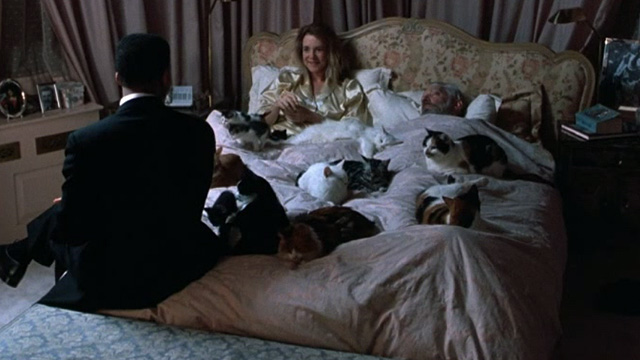 Six Degrees of Separation - multiple cats lying on bed with Paul Will Smith and Ouisa Stockard Channing