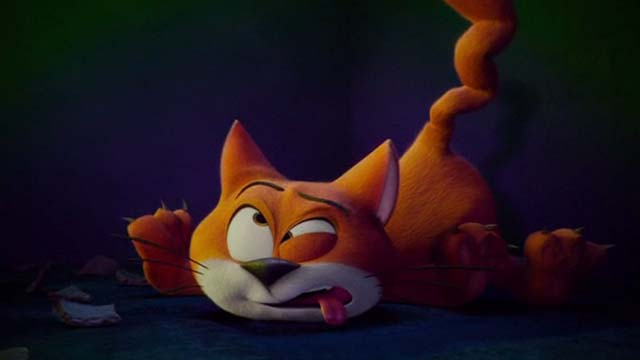 Smurfs: The Lost Village - Azrael cat knocked out