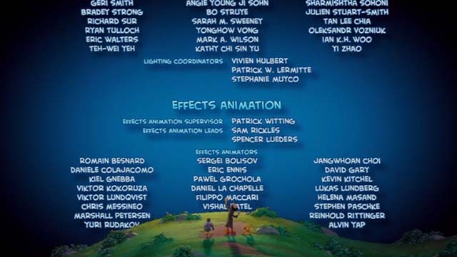 Smurfs: The Lost Village - Gargamel, Azrael cat and Monty walking in front of credits