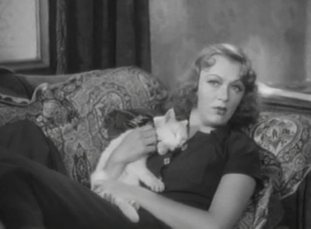 Stage Door - white cat Whitey with Eve Arden