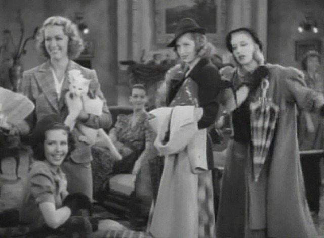 Stage Door - white cat Whitey with Eve Arden and girls