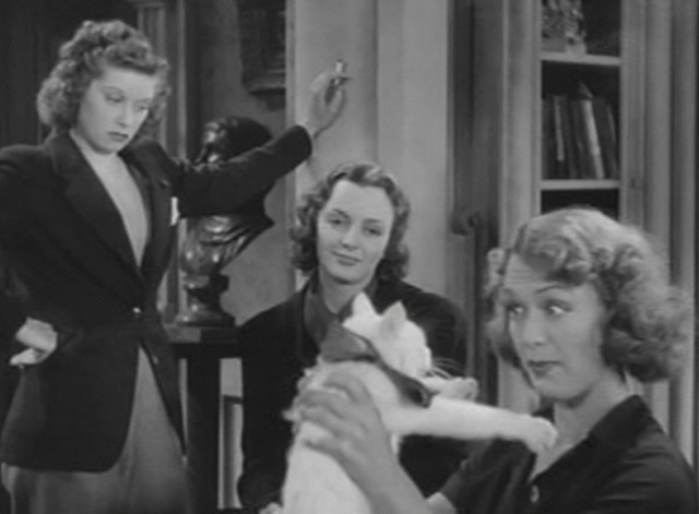 Stage Door - Eve Arden eyeing white cat Whitey