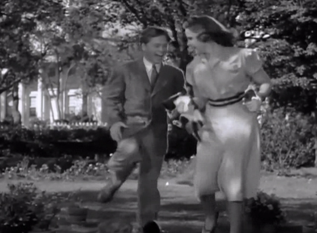 Strike Up the Band - Jimmy Mickey Rooney with Mary Judy Garland and tuxedo kitten