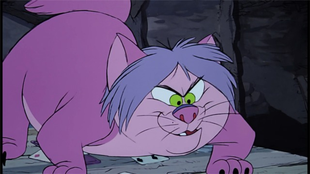 The Sword in the Stone - Madame Mim changes into a cat