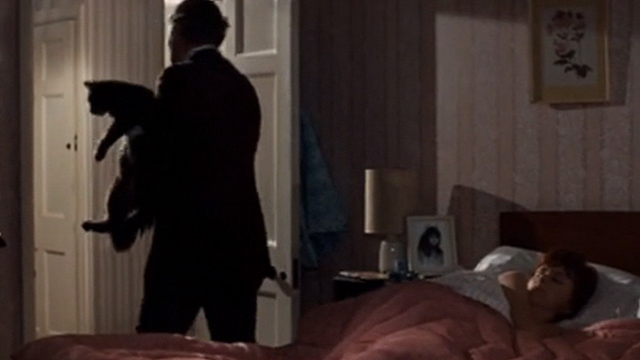 Villain - Bob Matthews Nigel Davenport carrying long haired tabby cat away from bed