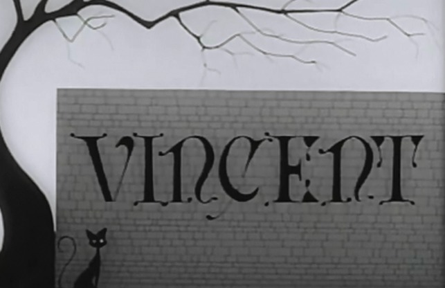 Vincent Tim Burton animated short black cat title