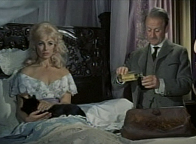 Waltz of the Toreadors - Ghislaine in bed with black cat