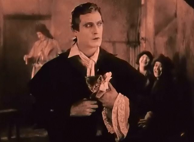 When a Man Loves - tabby kitten Fifi with Fabien John Barrymore