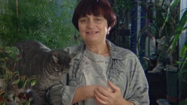 The World of Jacques Demy - Agnès Varda with gray tabby cat Zgougou