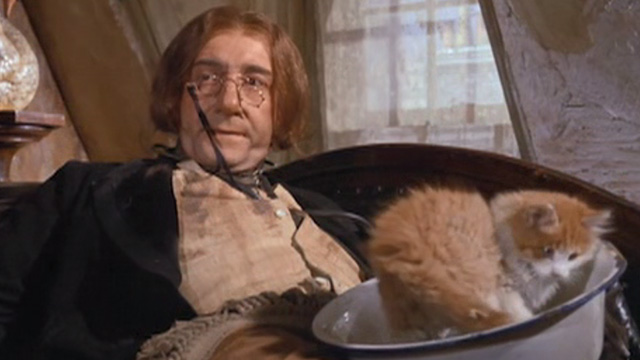 The Wrong Box - Dr. Pratt Peter Sellers with cat in bowl on lap