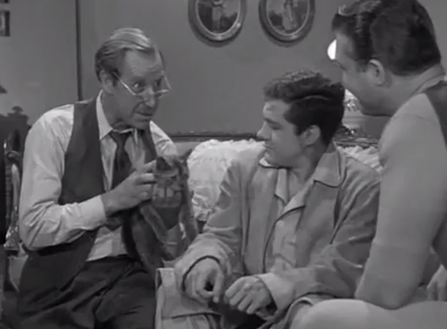 Adventures of Superman - The Lady in Black - Frank Ferguson introduces gray cat Timothy to Jimmy Olsen Jack Larson and Superman George Reeves