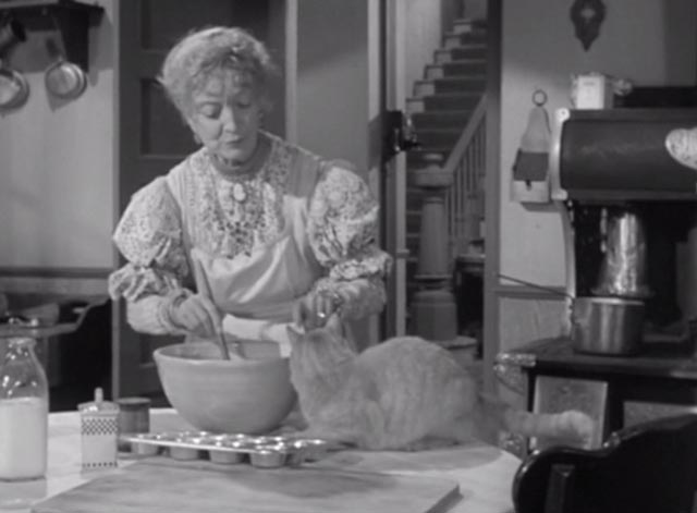 Alfred Hitchcock Presents - There Was an Old Woman - orangy tabby cat Tippie scolded by Monica Estelle Winwood