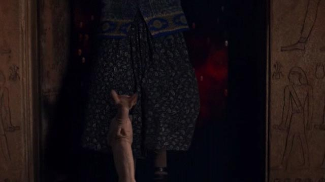American Gods - Head Full of Snow - Sphynx cat knocks Mrs. Fadil into portal