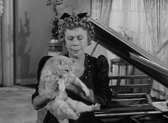 The Beverly Hillbillies - Elly's Animals - Orangey Rusty cat being pulled out of piano by Cousin Pearl Bea Benaderet