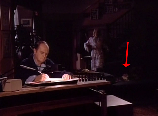 Bob - Mad Dog Returns - Bob Newhart at drawing table with cat Otto on couch in background