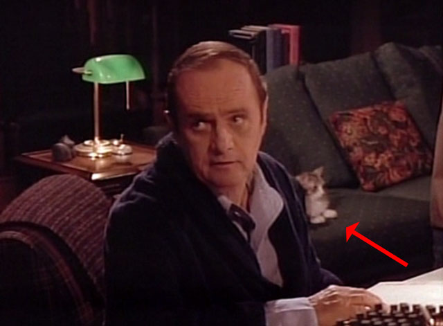 Bob - Mad Dog Returns - Bob Newhart with cat Otto on couch in background