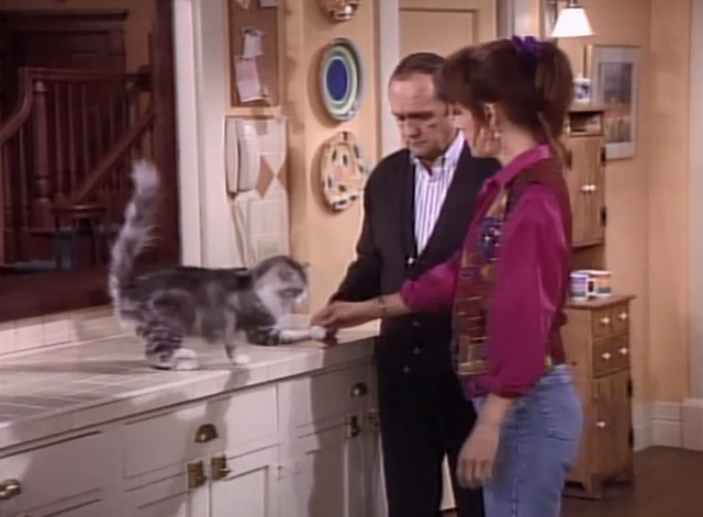 Bob - Stone in Love - Bob Newhart watching as Trisha Cynthia Stevenson shakes hands with cat Otto