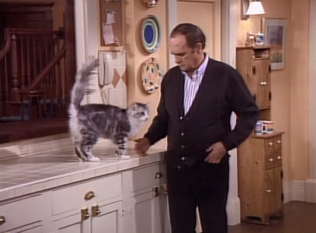 Bob - Stone in Love - Bob Newhart stunned while standing next to cat Otto